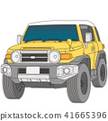 สีเหลืองและสีขาวรถสองล้อสี่ล้อ 41665396