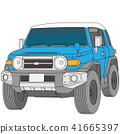 สีน้ำเงินและสีขาวสองโทนสี่ล้อรถไดรฟ์ 41665397