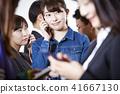 女性朋友智能手機 41667130