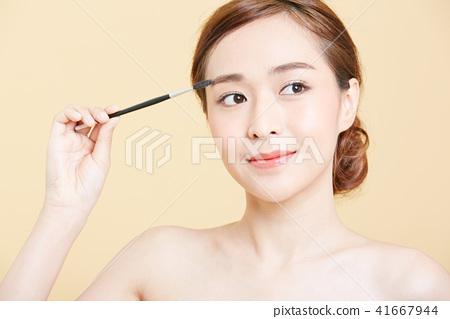 女性美容系列颜色背部化妆 41667944