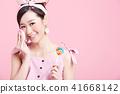 女性美容系列顏色背部化妝 41668142