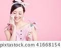 女性美容系列顏色背部化妝 41668154