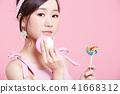 女性美容系列顏色背部化妝 41668312
