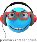 3d blue emoticon smile 41672446