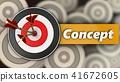 3d, target, concept 41672605