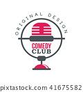 club, vector, microphone 41675582