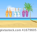 Beach Scene Illustration 41679605