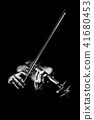 violinist hands playing violin, music background 41680453