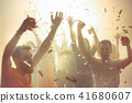 Nightlife and disco concept. Young people are dancing in club. 41680607