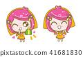 girl happy illustration 41681830