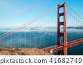 San Francisco Golden Gate bridge on foggy day 41682749
