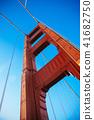 San Francisco Golden Gate bridge Tower against sky 41682750