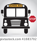 School Bus icon. Back to school sign illustration 41683702