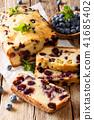 Homemade sliced blueberry bread muffin cake 41685402