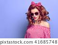 Fashion Young Pretty Redhead PinUp Girl Having Fun 41685748