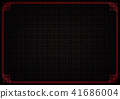 black chinese abstract background with red border 41686004