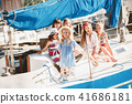 The children on board of sea yacht 41686181