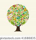 tree, vector, flower 41686835