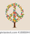 ต้นไม้,เวกเตอร์,ดอกไม้ 41686844