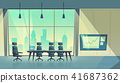 Vector cartoon conference hall, room for meetings 41687362