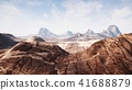 View over a beautiful desert redrock canyon. 3D rendering. 41688879