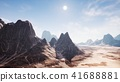 View over a beautiful desert redrock canyon. 3D rendering. 41688881
