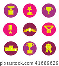 prize award icon set 41689629