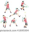 網球員的例證畫與蠟筆 41695004