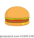 burger sandwich illustration, food icon, burger sandwich isolated - fast food 41695148