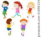 A Set of Dancing Kids 41696154