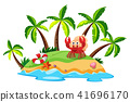 A Beautiful Island and Crab 41696170