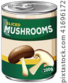 A Can of Sliced Mushrooms 41696172