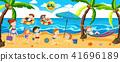 panorama beach vector 41696189