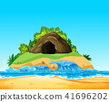 A Mystery Cave on Island 41696202