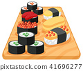 A Set of Japanese Sushi 41696277