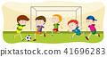 football, field, vector 41696283