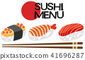 A Japanese Sushi Menu Set 41696287