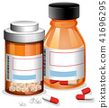 Pills and Capsule on White Background 41696295