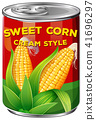 corn, vector, sweet 41696297