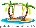 A Boy Resting Under Coconut Tree 41696322