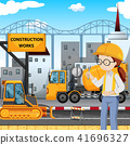 An Engineer at Construction Site 41696327