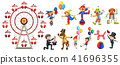 A Set of Circus Character 41696355