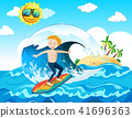 A Surfer Enjoy Surfing at the Ocean 41696363
