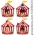 Set of circus entertainers 41696425