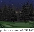 night, forest, dark 41696467