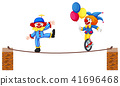 A Circus Clown Show on White Background 41696468