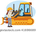 A Young Mechanic Engineer on White Background 41696689