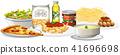 A Set of Italian Cuisine 41696698
