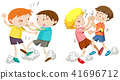 Set of young boys fighting 41696712