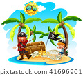 Pirate and a Boy on Island 41696901